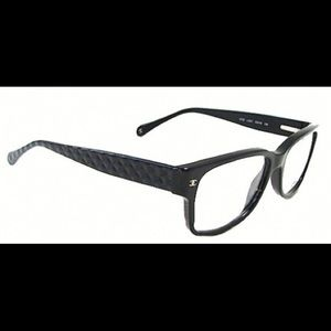 Authentic Chanel eyeglasses with quilted detail